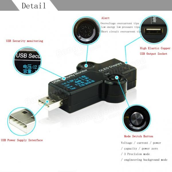 Tester USB, verificare voltaj, consum etc, multifunctional [0]