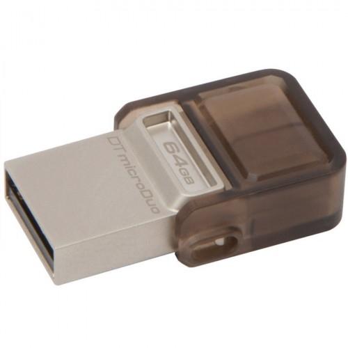 Stick Flash Drive DataTraveler microDuo 64GB, USB 2.0 & microUSB – USB OTG, Ki 0