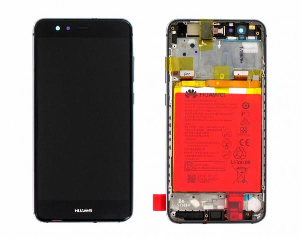 Ecran Display Huawei P10 Lite cu rama si acumulator Negru, Service Pack 0
