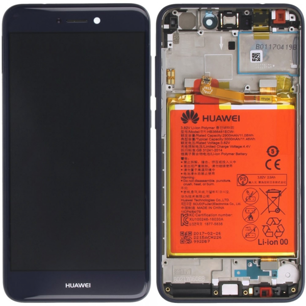Ecran Display Huawei P8 P9 Lite 2017 Service Pack + Acumulator  Original Blue [0]