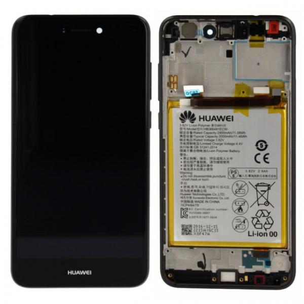 Ecran Display Huawei P8 LITE 2017 P9 Lite 2017 Service Pack + Acumulator Original Negru 0