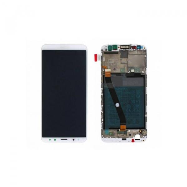 Ecran Display Huawei Mate 10 Lite cu rama baterie Service Pack Alb Gold Original 0