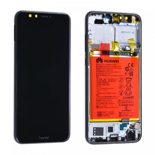 Ecran Display Honor 9 Lite cu rama baterie difuzor Service Pack Original Negru 0