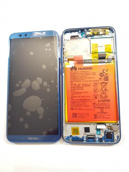 Ecran Display Honor 9 Lite cu rama baterie difuzor Service Pack Original Blue 0
