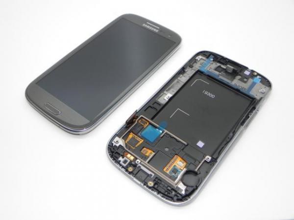 Ecran display Samsung S3 i9300 Grey original cu rama 0