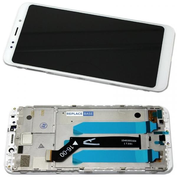 Ecran display Xiaomi Redmi 5 Alb cu rama fata [0]