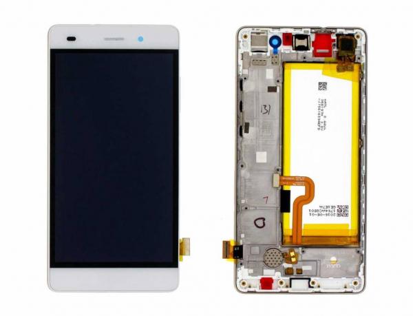 Ecran Display Huawei P8 Lite Original Service Pack cu baterie Alb, ALE-L21 0