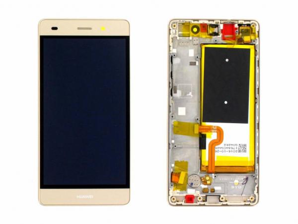 Ecran Display Huawei P8 Lite Original Service Pack cu baterie Gold 0