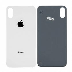 Sticla geam CAPAC spate iPhone x alb compatibil [0]