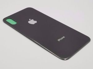 Sticla geam spate iPhone X negru 0