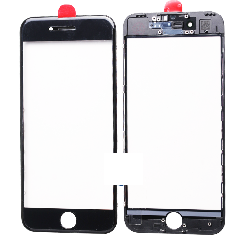 Geam cu rama si Oca pentru Iphone 7 Plus Negru 0