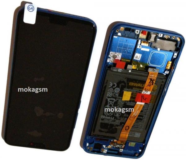 Ecran Display HONOR 10, Blue Albastru, Original Service Pack cu Baterie, COL-L29 0
