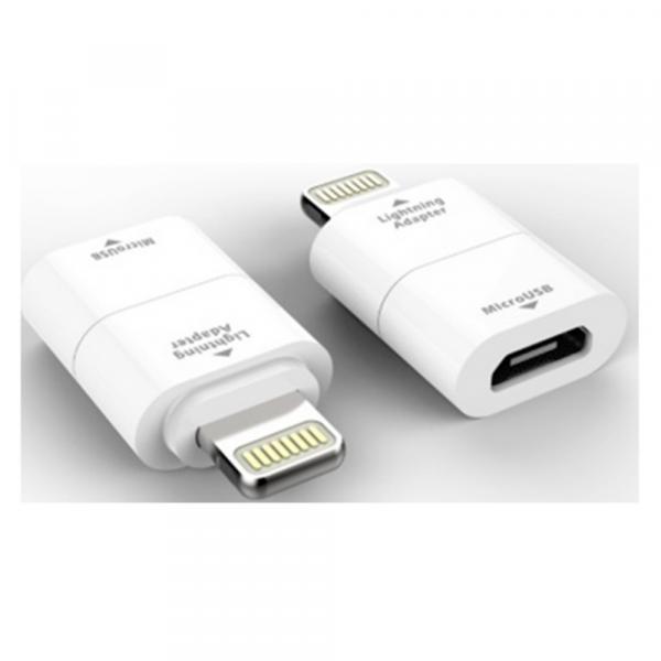 Adaptor incarcare si date, Micro USB la Lightning iPhone MILIADPWH, Alb 0