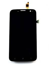Display Lenovo A859 cu Touchscreen negru Original 0