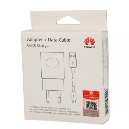 Incarcator Retea Huawei Super Charger / Fast Charger AP32 + cablu MicroUSB 100 cm, HW-059200EHQ - White0