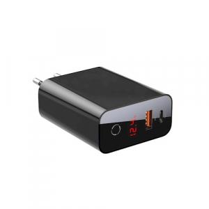 Incarcator retea Baseus PPS QC USB + PD 45W negru cu display0