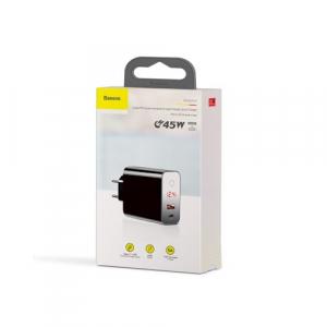 Incarcator retea Baseus PPS QC USB + PD 45W negru cu display5