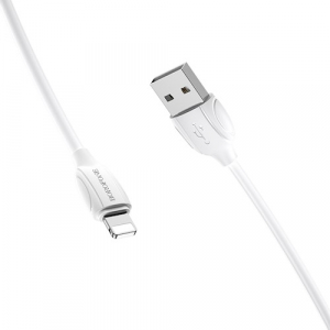 Cablu date iPhone 1m 2.4A, Alb Lighting Cable Borofone BX192