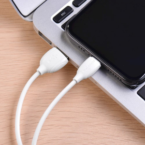 Cablu date iPhone 1m 2.4A, Alb Lighting Cable Borofone BX193