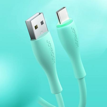Cablu date USB C Type C Joyroom alb  2,4A 1,2 m Liquid Silicone [4]