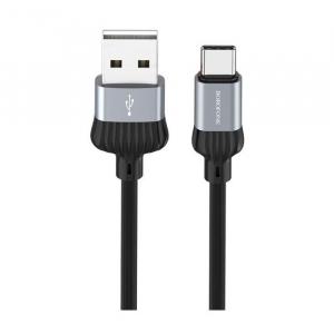 Cablu date USB Type C, Borofone Dignity BX28 Type-C 1M black-gray [1]