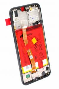 Ecran Display Huawei P20 Lite Service Pack + Acumulator + difuzor Original Negru3