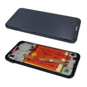 Ecran Display Huawei P20 Lite Service Pack + Acumulator + difuzor Original Negru1