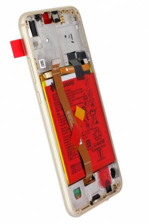 Ecran Display Huawei P20 Lite Service Pack + Rama + Acumulator + difuzor Original GOLD1