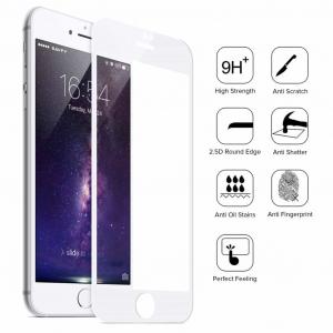 Folie Sticla 9D OG Full Glue iPhone 7 Plus iPhone 8 Plus, White0