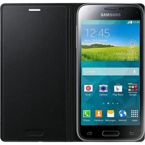 Husa Flip Samsung s5 mini Book Case Black WALLET0