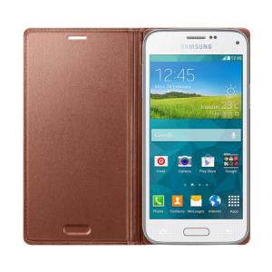 Husa Flip Samsung s5 mini Book Case Rose Gold WALLET2