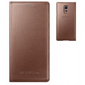 Husa Flip Samsung s5 mini Book Case Rose Gold WALLET0