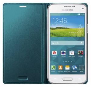 Husa Flip Samsung s5 mini Book Case Green1