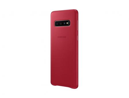 Husa Piele pentru Samsung Galaxy S10 G973f, Red Rosu3
