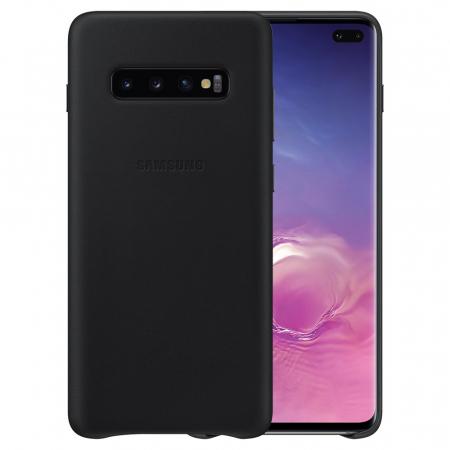 Husa Piele pentru Samsung Galaxy S10 Plus G975f, Neagra0