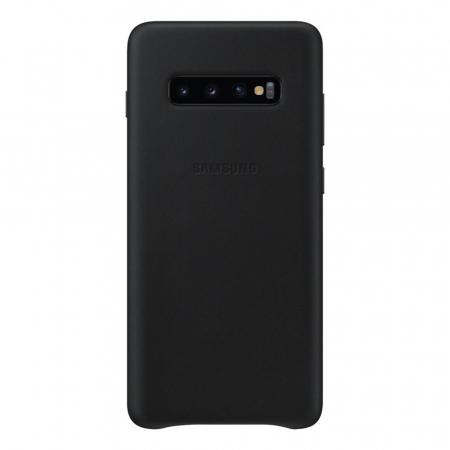 Husa Piele pentru Samsung Galaxy S10 Plus G975f, Neagra1