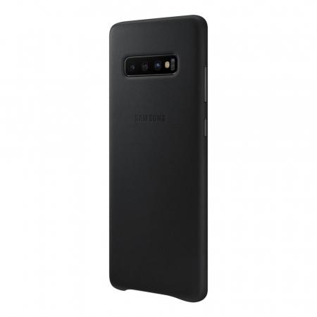 Husa Piele pentru Samsung Galaxy S10 Plus G975f, Neagra4