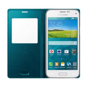 Husa Flip Samsung Cover S-View EF-CG800BG for Galaxy S5 Mini SM-G800, EF-CG800BGEGWW - Green2