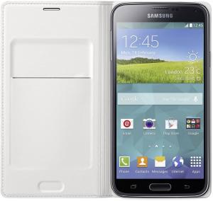 Husa Samsung Galaxy S5 Duos G900 EF-WG900BW alba Blister Originala1