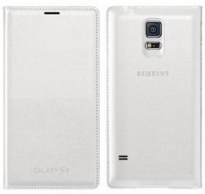 Husa Samsung Galaxy S5 Duos G900 EF-WG900BW alba Blister Originala0