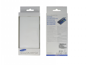 Husa Samsung Galaxy S5 Duos G900 EF-WG900BW alba Blister Originala2