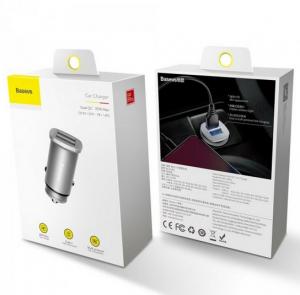 Incarcator auto Baseus Square metal A+A 30W, QuickCharge