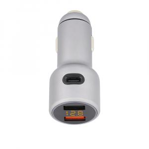 Incarcator auto Tellur cu 3 Porturi + Voltmetru, 5.4A QC 3.02