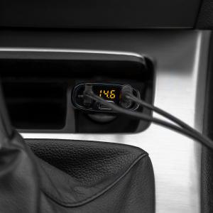 Incarcator auto Tellur cu 3 Porturi + Voltmetru, QC 3.0, 5.4A, 32W3