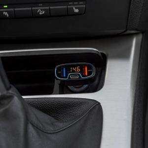 Incarcator auto Tellur cu 3 Porturi + Voltmetru, QC 3.0, 5.4A, 32W2