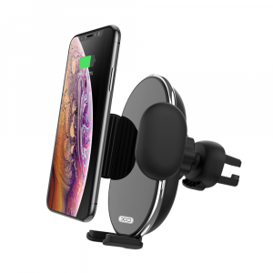 Suport auto cu incarcare wireless XO Car holder with wireless charger WX013 black 10W0