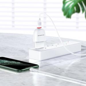 Incarcator retea cu cablu iPhone  2.1A, 1x USB, Borofone BA49A Vast Power Alb2