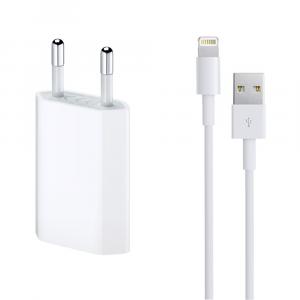 Incarcator retea cu cablu iPhone Lighting  5V / 1A 220V1