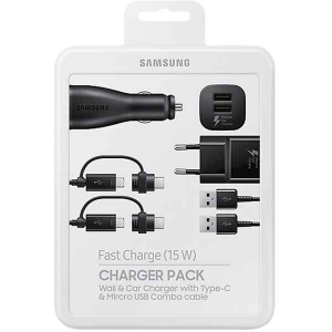 Set incarcare Charger Pack Samsung , Incarcator auto + incarcator retea + 2 cabluri0