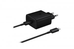 Incarcator Retea cu cablu USB Tip-C Samsung PD 45W Super Fast Charge, 1 X USB, Negru, Blister EP-TA845XWEGWW Note 100